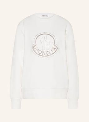 MONCLER Sweatshirt mit Schmucksteinbesatz