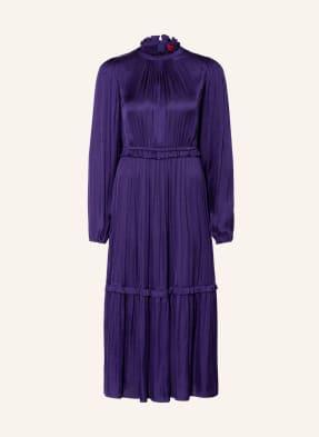 HUGO Kleid mit Rüschenbesatz