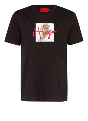HUGO T-Shirt DUDGIE mit Stickereien