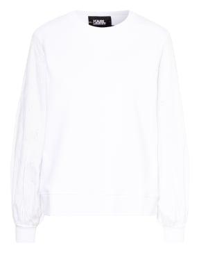 KARL LAGERFELD Sweatshirt im Materialmix