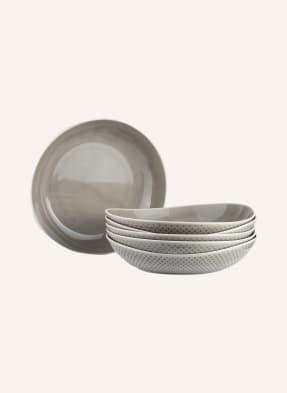 Rosenthal 6er-Set Suppenteller JUNTO PEARL GREY