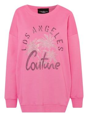 CAMOUFLAGE couture Sweatshirt mit Schmucksteinbesatz