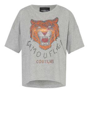 CAMOUFLAGE couture T-Shirt mit Schmucksteinbesatz
