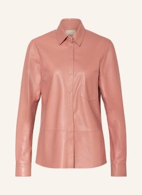 Mrs & HUGS Leder-Overshirt