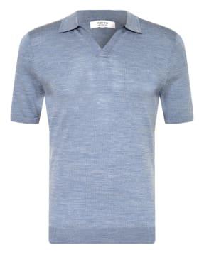 REISS Strick-Poloshirt DUCHIE aus Merinowolle