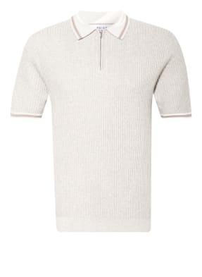 REISS Poloshirt FINN im Materialmix