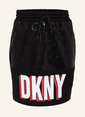 DKNY Rock mit Paillettenbesatz