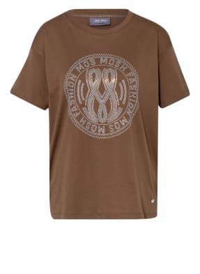 MOS MOSH T-Shirt LEAH HOLY mit Schmucksteinbesatz