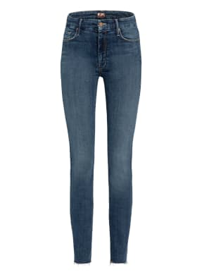 MOTHER Skinny Jeans THE LOOKER ANKLE FRAY