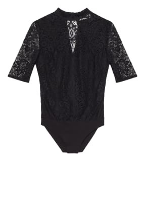 AlpenHERZ Body-Bluse mit Häkelspitze