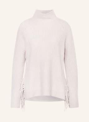 HEMISPHERE Pullover mit Cashmere und Fransenbesatz