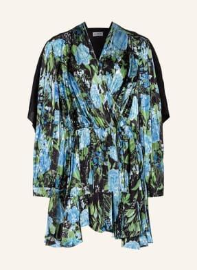 BALENCIAGA Kleid mit Seide im Materialmix