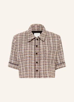 SANDRO Cropped-Jacke aus Tweed