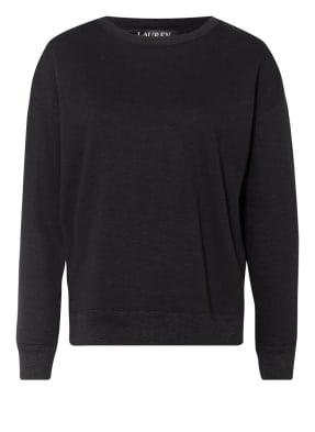 LAUREN RALPH LAUREN Sweatshirt mit Fransenbesatz