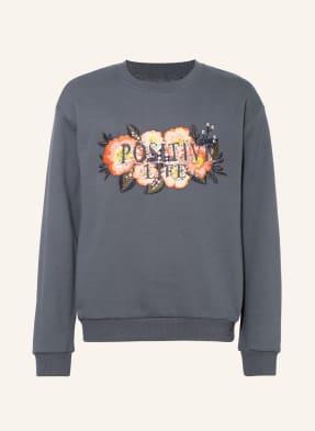 name it Sweatshirt mit Paillettenbesatz