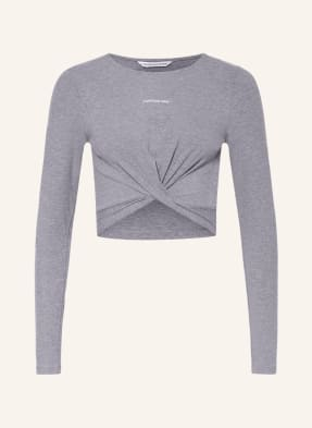 Calvin Klein Jeans Cropped-Shirt in Wickeloptik