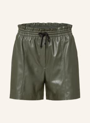 Lala Berlin Paperbag-Shorts PAULETTE in Lederoptik