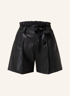 RINASCIMENTO Paperbag-Shorts in Lederoptik