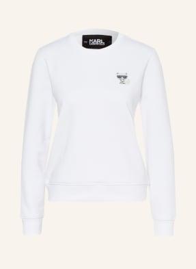 KARL LAGERFELD Sweatshirt mit Schmucksteinbesatz