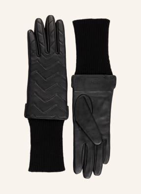 SANDRO Handschuhe im Materialmix