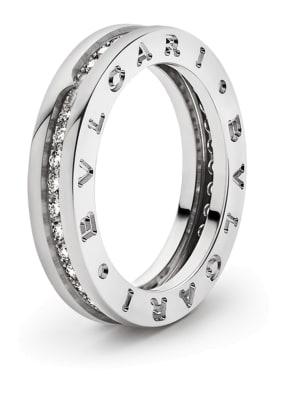 BVLGARI Ring B.ZERO1 aus 18 Karat Weißgold und Diamanten