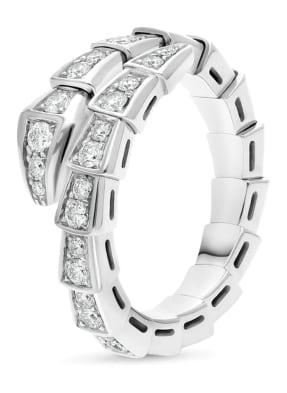 BVLGARI Ring SERPENTI aus 18 Karat Weißgold und Diamanten