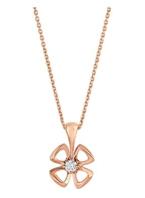 BVLGARI Halskette FIOREVER aus 18 Karat Roségold und Diamanten