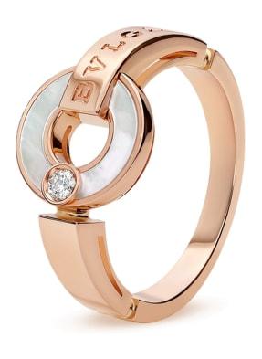 BVLGARI Ring BVLGARI BVLGARI aus 18 Karat Roségold, Diamanten und Perlmutt
