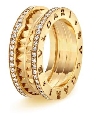 BVLGARI Ring B.ZERO1 aus 18 Karat Gelbgold und Keramik