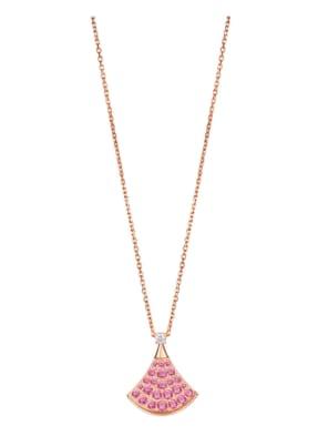 BVLGARI Halskette DIVAS'DREAM aus 18 Karat Roségold, Diamanten und Saphir
