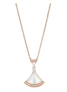 BVLGARI Halskette DIVAS'DREAM aus 18 Karat Roségold, Diamanten und Perlmutt