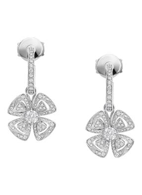 BVLGARI Ohrringe FIOREVER aus 18 Karat Weißgold mit Diamanten