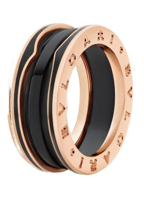 BVLGARI Ring B.ZERO1 aus 18Karat Roségold mit matt schwarzer Keramik