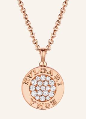 BVLGARI Kette BVLGARI BVLGARI aus 18Karat Roségold mit Perlmutt und Diamant-Pavé