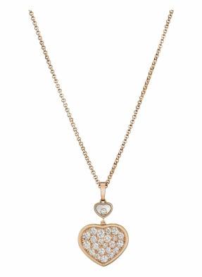 Chopard Anhänger HAPPY HEARTS Anhänger aus 18 Karat Roségold und Diamanten