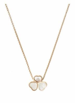 Chopard Halskette HAPPY HEARTS WINGS Halskette aus 18 Karat Roségold, Diamanten und Perlmutt
