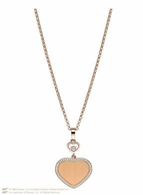 Chopard Anhänger HAPPY HEARTS GOLDEN HEARTS Anhänger aus 18 Karat Roségold und Diamanten