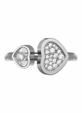 Chopard Ring HAPPY HEARTS Ring aus 18 Karat Weißgold und  Diamanten