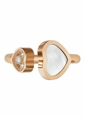 Chopard Ring HAPPY HEARTS Ring aus 18 Karat Roségold, Diamanten und Perlmutt