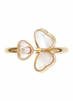 Chopard Ring HAPPY HEARTS WINGS Ring aus 18 Karat Roségold, Diamanten und Perlmutt
