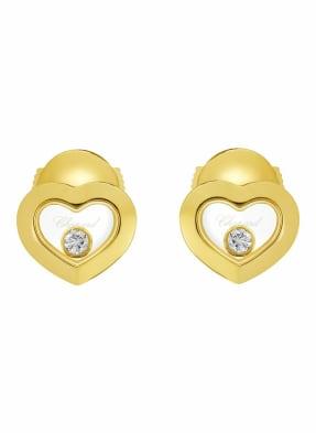 Chopard Ohrring HAPPY DIAMONDS ICONS Ohrringe aus 18 Karat Gelbgold und Diamanten