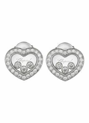 Chopard Ohrring HAPPY DIAMONDS ICONS Ohrringe aus 18 Karat Weißgold und Diamanten