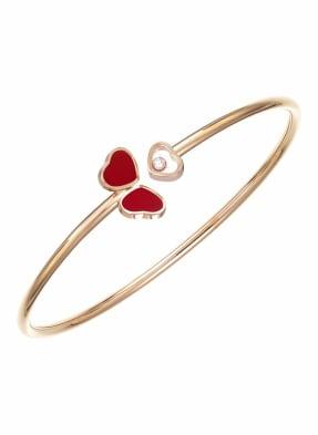 Chopard Armreif HAPPY HEARTS WINGS Armreif aus 18 Karat Roségold, Diamanten und roter Stein