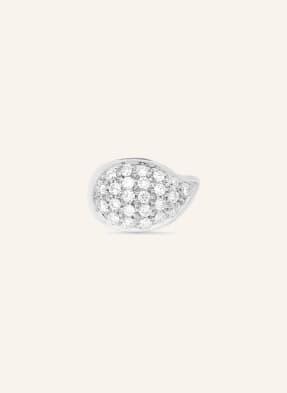TAMARA COMOLLI Charm SIGNATURE DROP CLASP aus 18 Karat Weißgold mit Diamant Pavé