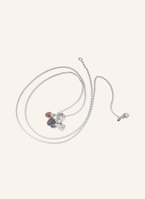 TAMARA COMOLLI Halskette MIKADO aus 18 Karat Weißgold und Mondsteinen