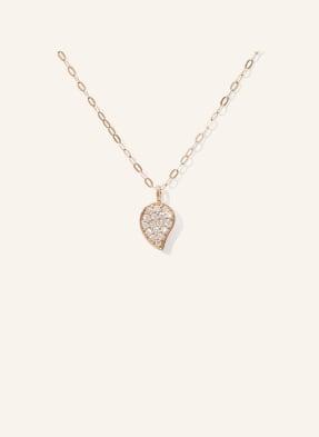 TAMARA COMOLLI Halskette SPARKLE aus 18 Karat Roségold mit Diamant Pavé