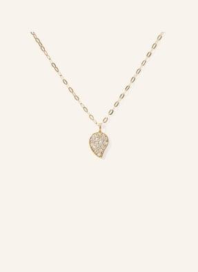TAMARA COMOLLI Halskette SPARKLE aus 18 Karat Gelbgold mit Diamant Pavé