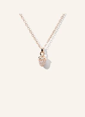 TAMARA COMOLLI Halskette MYMIKADO aus 18 Karat Roségold mit Diamant Pavé