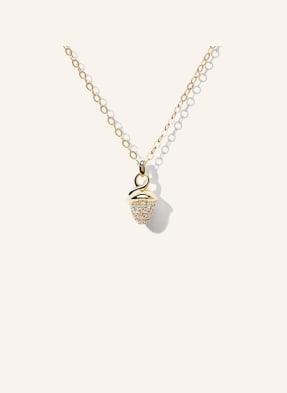 TAMARA COMOLLI Halskette MYMIKADO aus 18 Karat Gelbgold mit Diamant Pavé