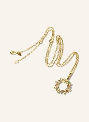 TAMARA COMOLLI Halskette GYPSY SUN aus 18 Karat Gelbgold mit Edelsteinen